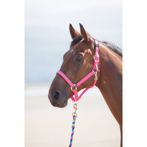 Shires Topaz Nylon Headcollar in Pink