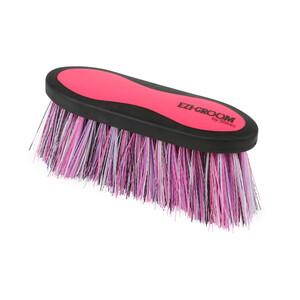 Ezi-Groom EZI-GROOM Grip Long Bristle Dandy Brush in Bright Pink
