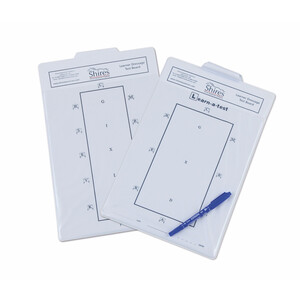 Shires Learner Dressage Test Board in White