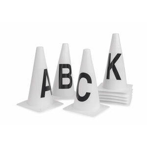 Shires Dressage Marker Cones (ABCEFHKM) in White