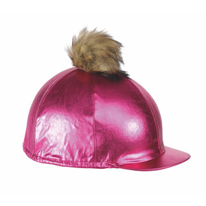 Shires Metallic Hat Cover in Pink