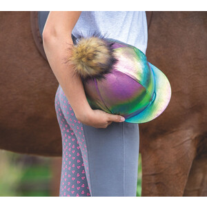 Shires Metallic Hat Cover in Rainbow
