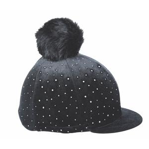 Shires Velvet Sparkle Hat Cover in Black