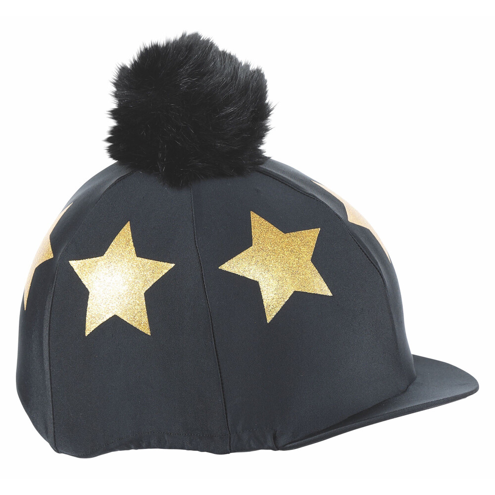 Shires Glitter Star Hat Cover in Black