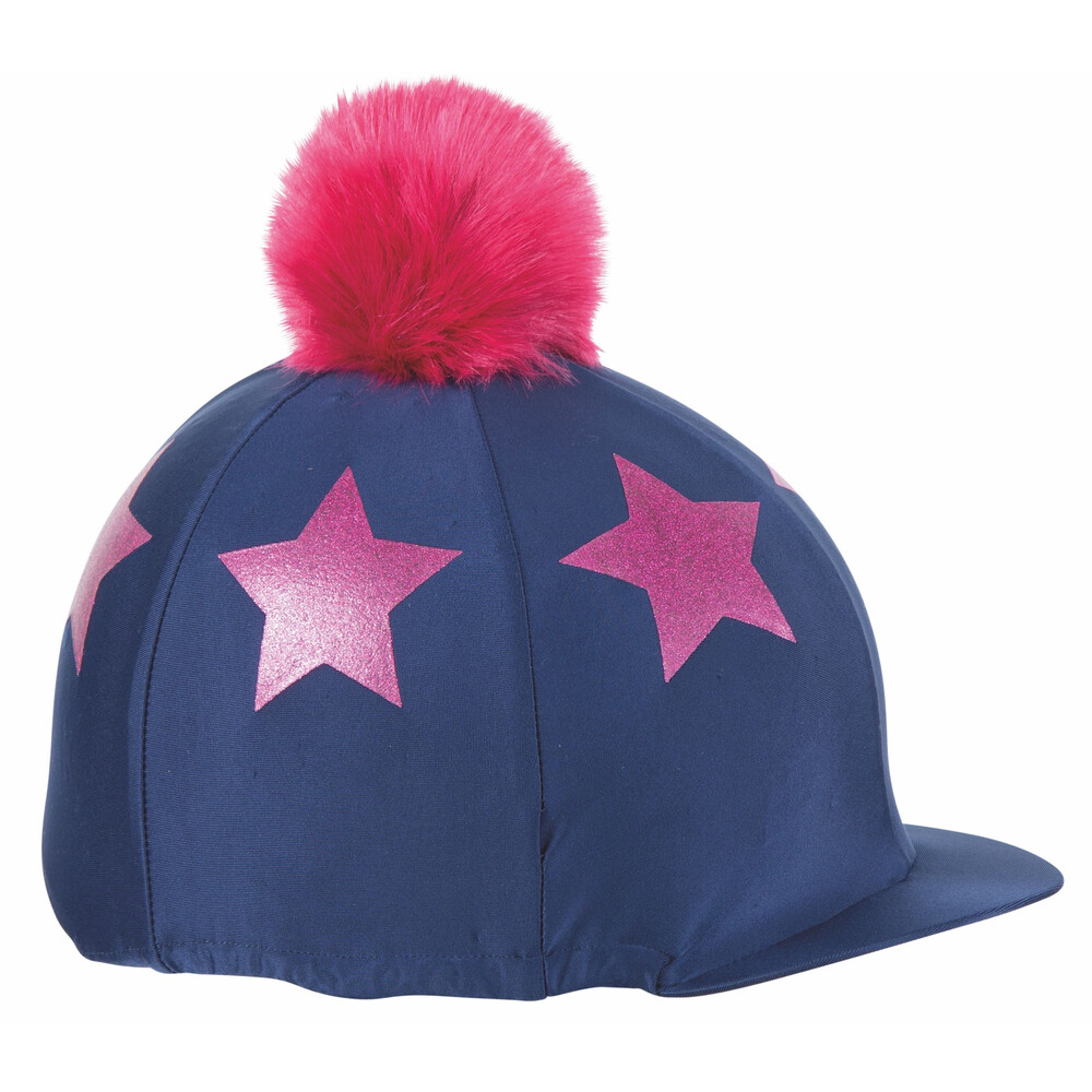 Shires Glitter Star Hat Cover in Navy
