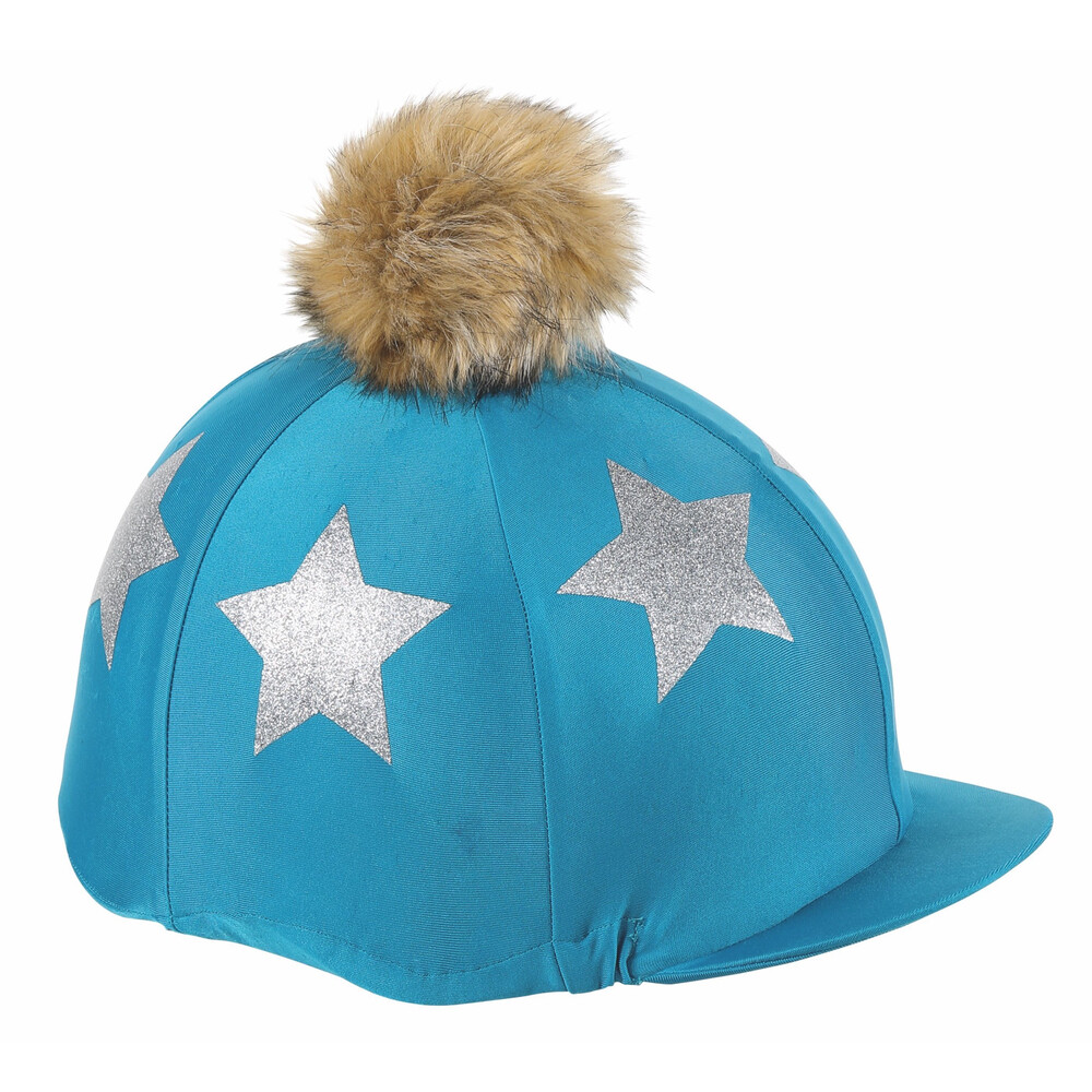 Shires Glitter Star Hat Cover in Teal