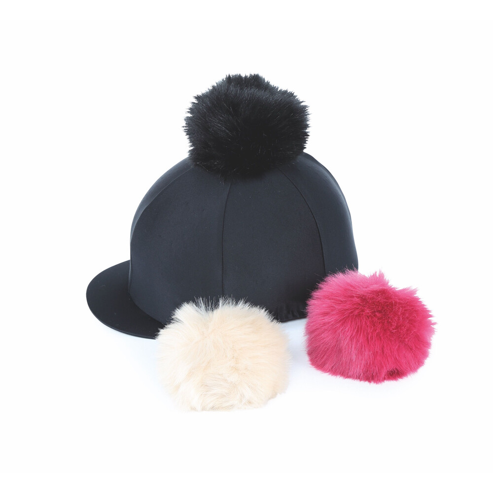 Shires Switch It Pom Pom Hat Cover in Black