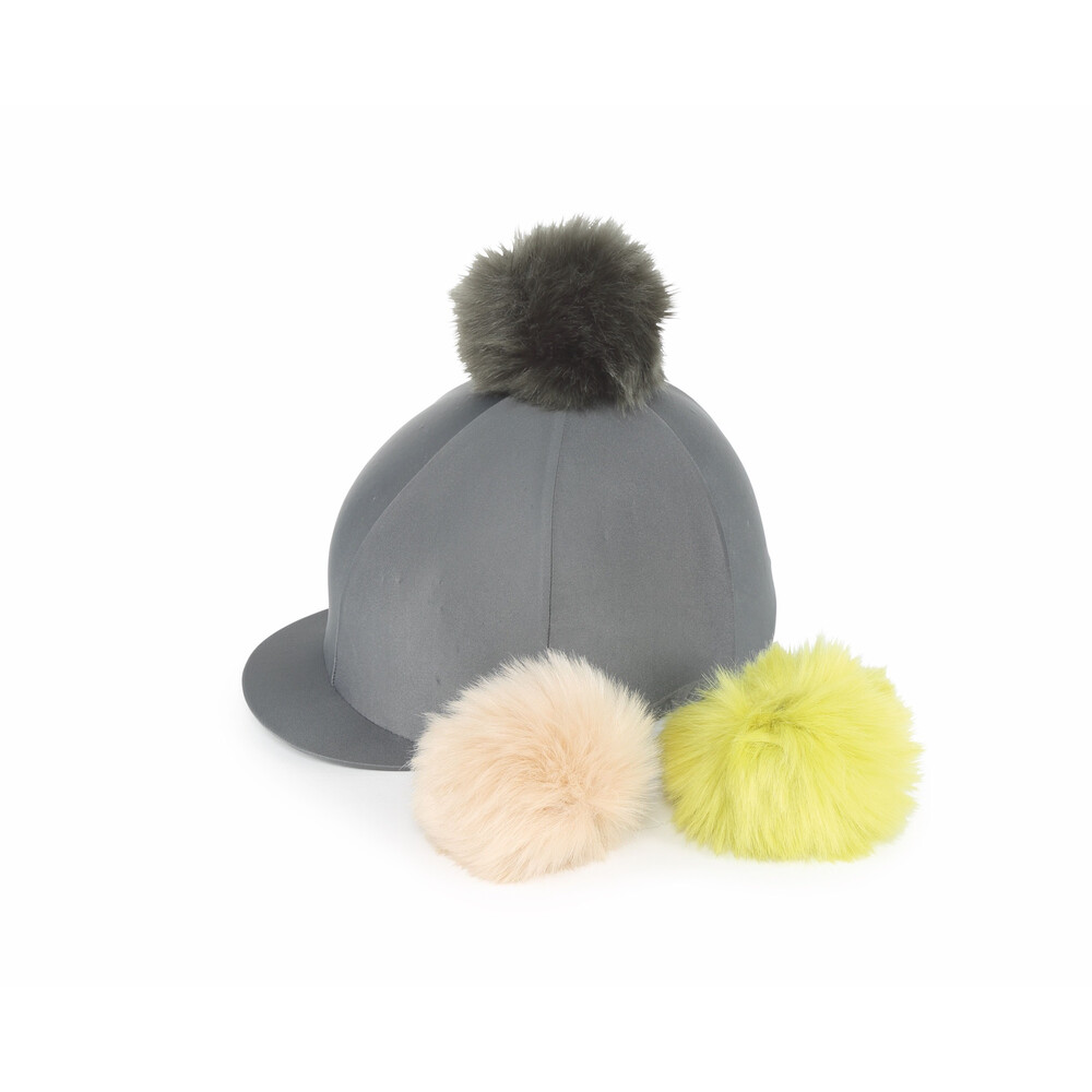 Shires Switch It Pom Pom Hat Cover in Charcoal
