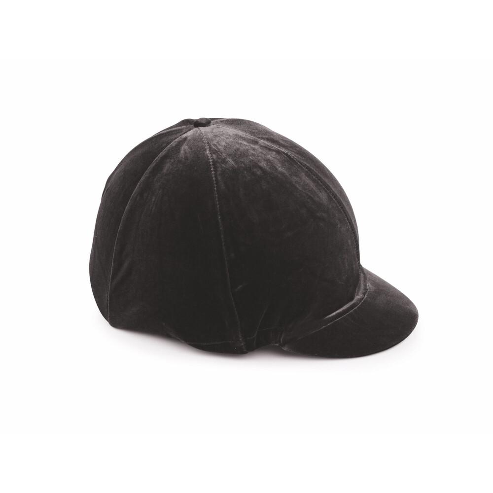 Shires Velveteen Hat Cover in Black
