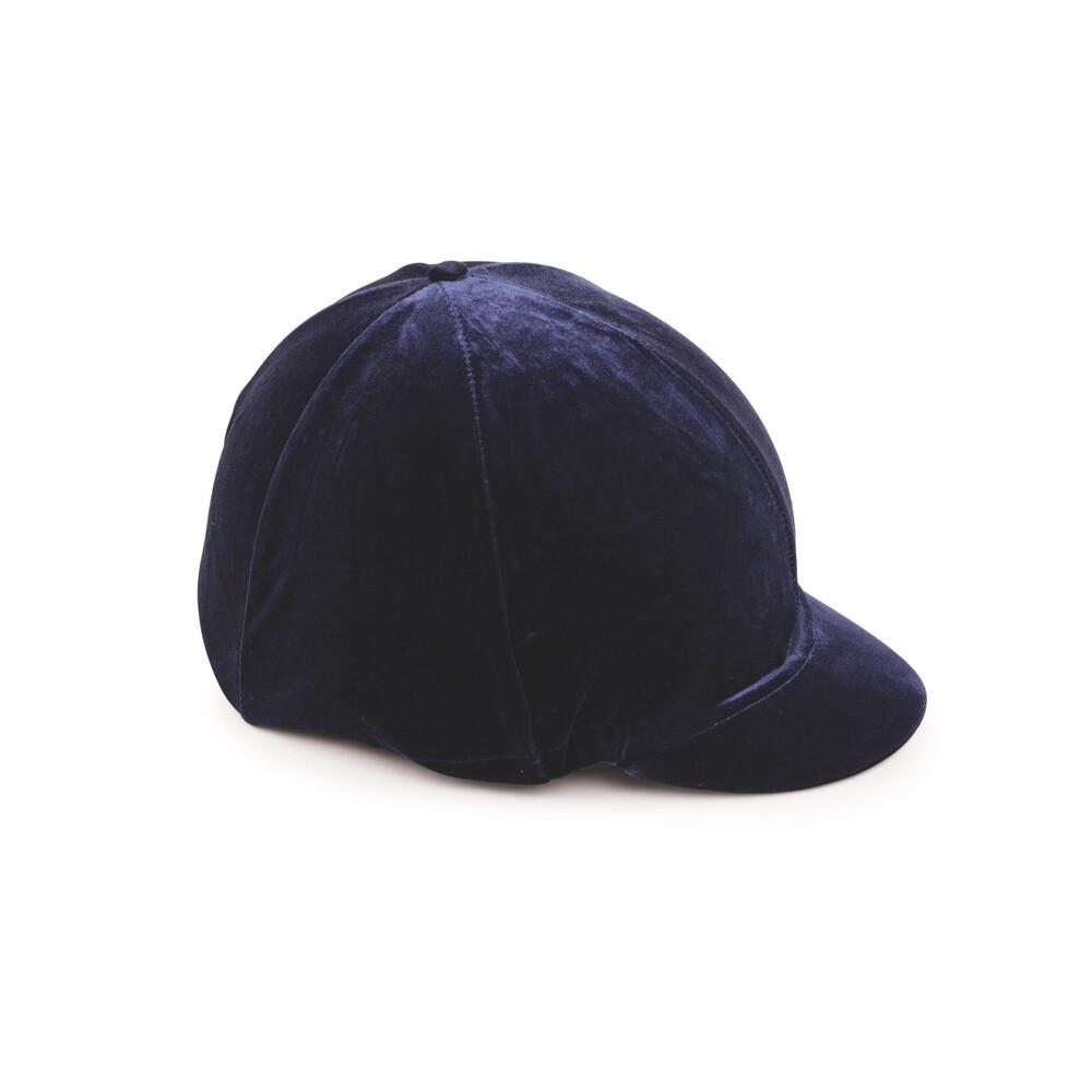 Shires Velveteen Hat Cover in Navy