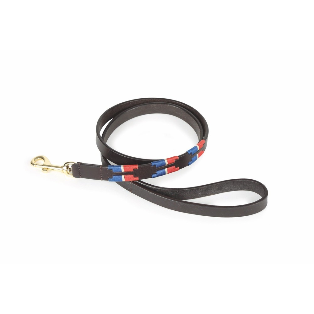 Digby & Fox Drover Polo Dog Lead - Navy/Red in Navy/Red