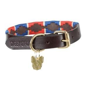 Digby & Fox Drover Polo Dog Collar - Navy/Red