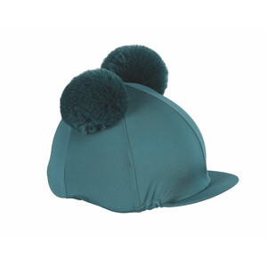 Shires Double Pom Pom Hat Cover in Green