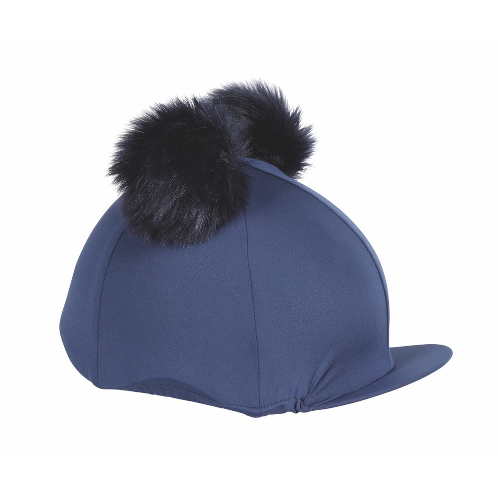 Shires Double Pom Pom Hat Cover in Navy