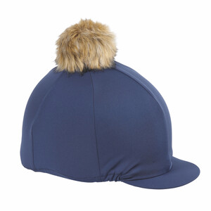 Shires Pom Pom Hat Cover in Navy