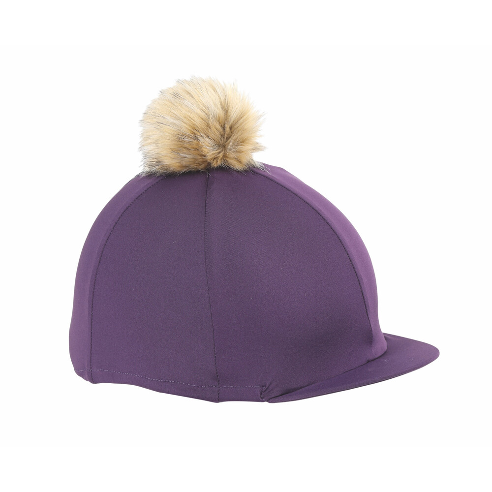 Shires Pom Pom Hat Cover in Plum