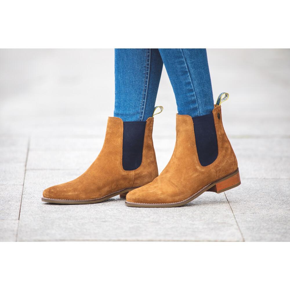 Moretta Rosalie Chelsea Boots-Ladies in Tan