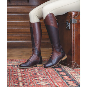 Moretta Pietra Riding Boots - Ladies - Wide in Chestnut