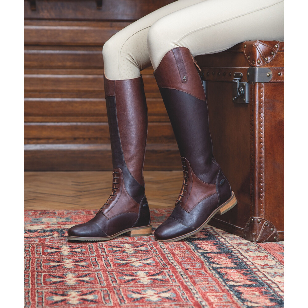Moretta Pietra Riding Boots - Ladies - Extra Wide in Chestnut