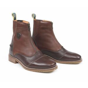 Moretta Viviana Zip Paddock Boots-Ladies in Chestnut