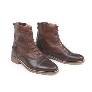 Moretta Teresa Lace Paddock Boots-Ladies in Chestnut