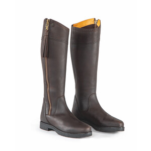 Moretta Alessandra Country Boots - Wide in Chocolate