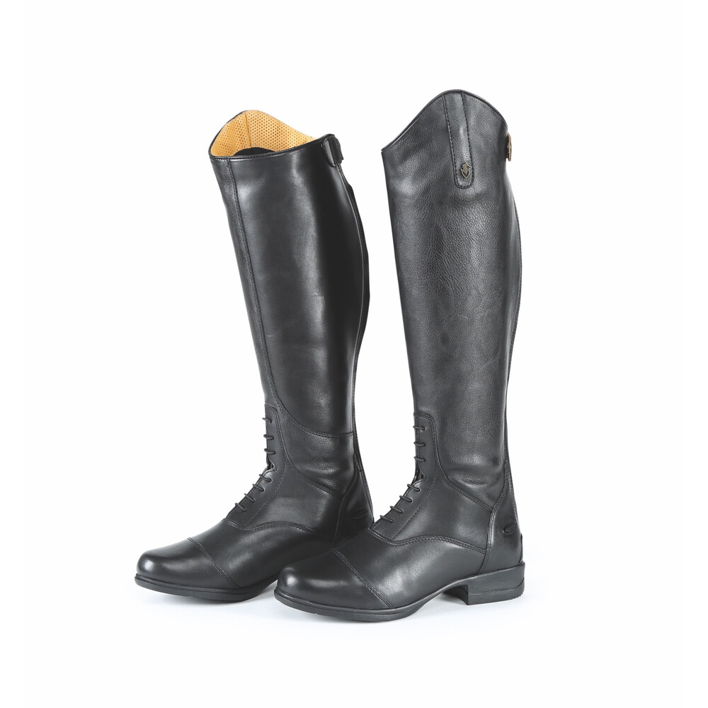 Moretta Gianna Riding Boots - Wide in Black