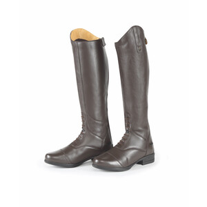 Moretta Gianna Riding Boots - Extra Wide in Brown