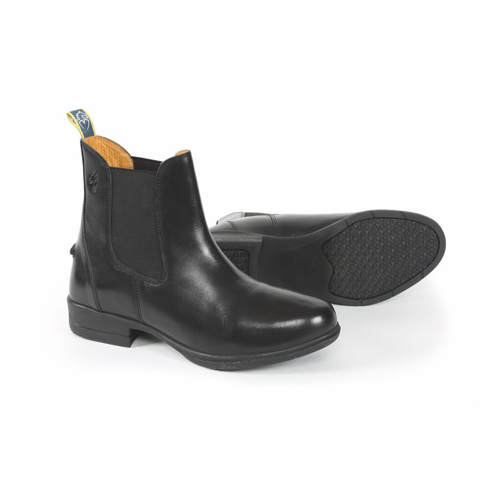 Moretta Lucilla Leather Jodhpur Boots in Black