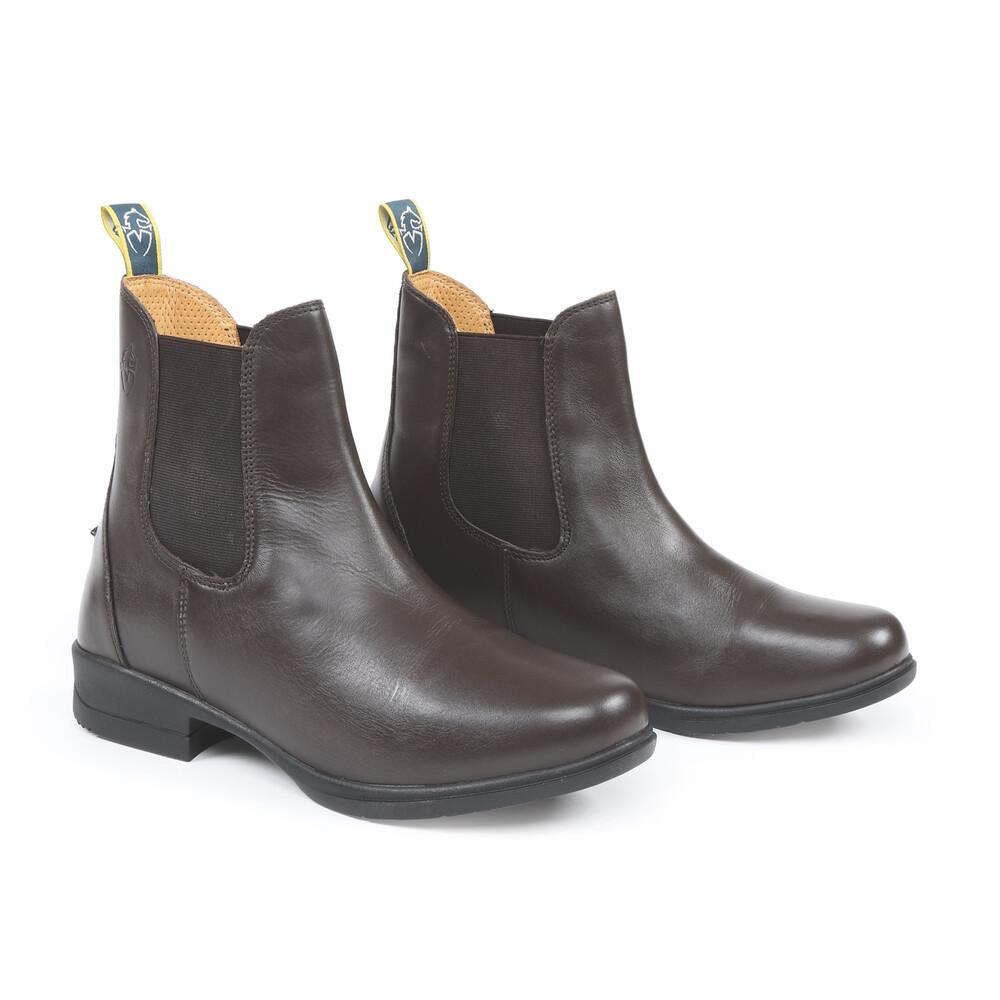 Moretta Lucilla Leather Jodhpur Boots in Brown