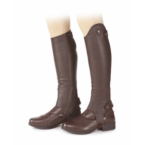 Moretta Leather Gaiters - Adults - Short in Brown