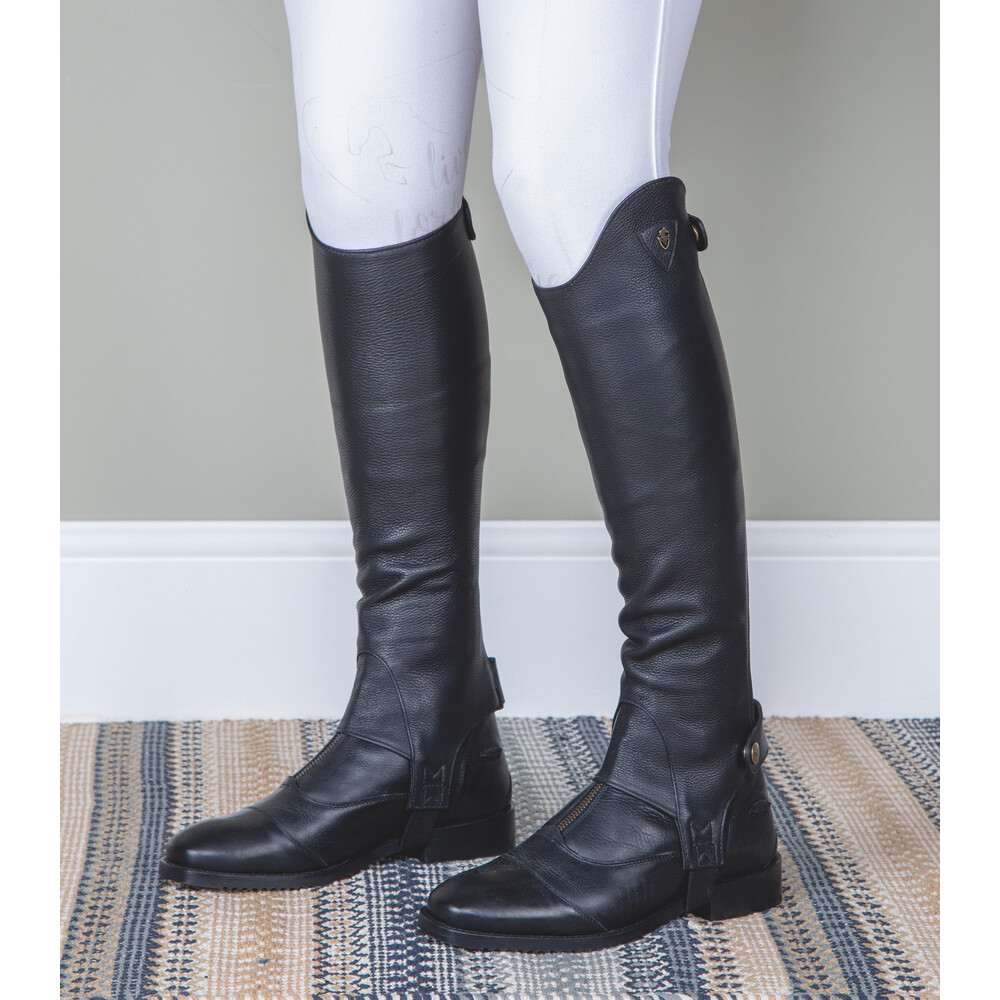 Moretta Leather Gaiters - Adults - Standard in Black