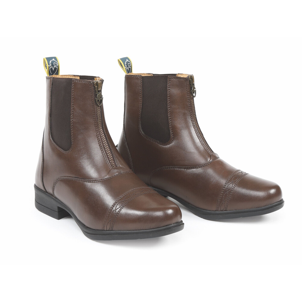 Moretta Clio Paddock Boots - Childs in Brown