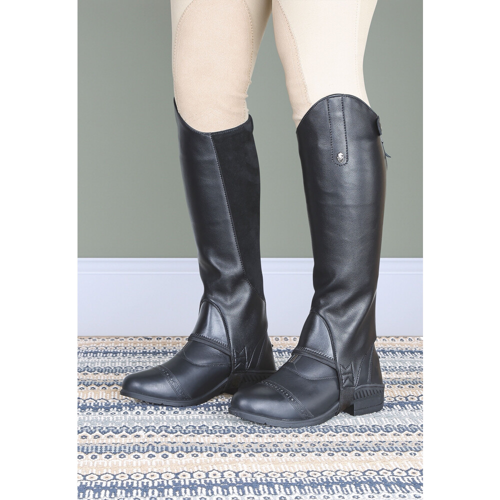 Moretta Synthetic Gaiters - Childs in Black