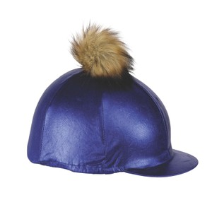 Shires Metallic Hat Cover in Blue