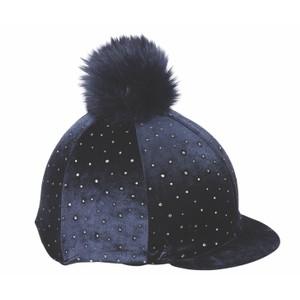 Shires Velvet Sparkle Hat Cover in Navy