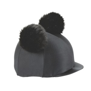 Shires Double Pom Pom Hat Cover in Black