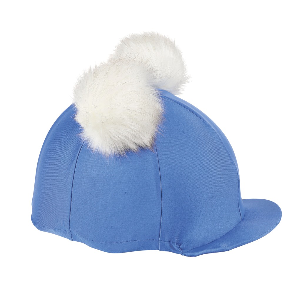 Shires Double Pom Pom Hat Cover in Blue