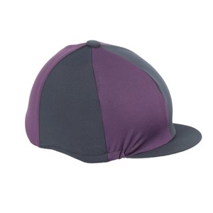 Shires Hat Cover in Black/Plum