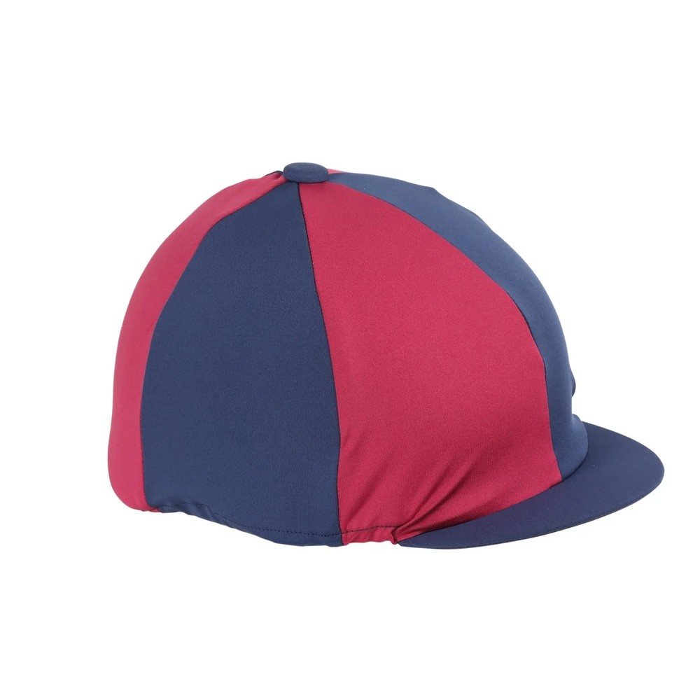 Shires Hat Cover in Navy/Raspberry