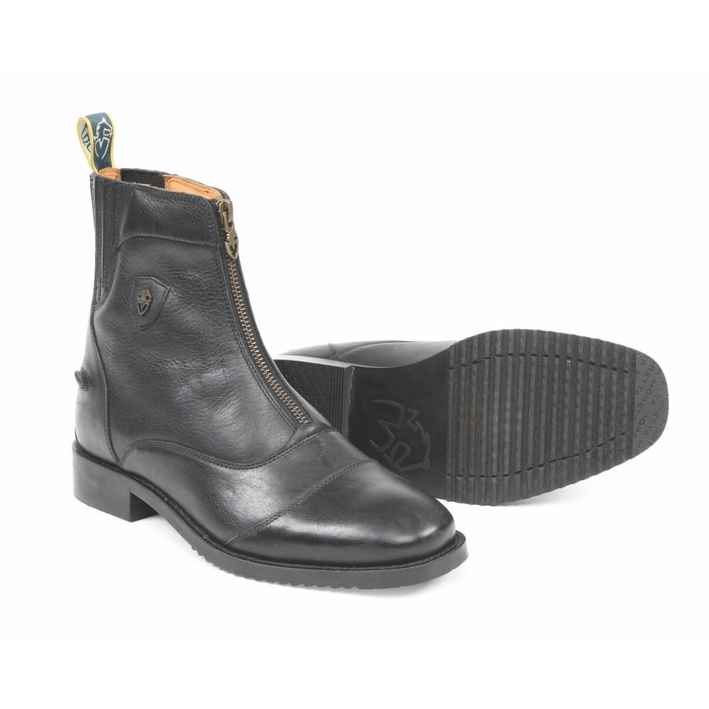 Moretta Viviana Zip Paddock Boots-Ladies in Black