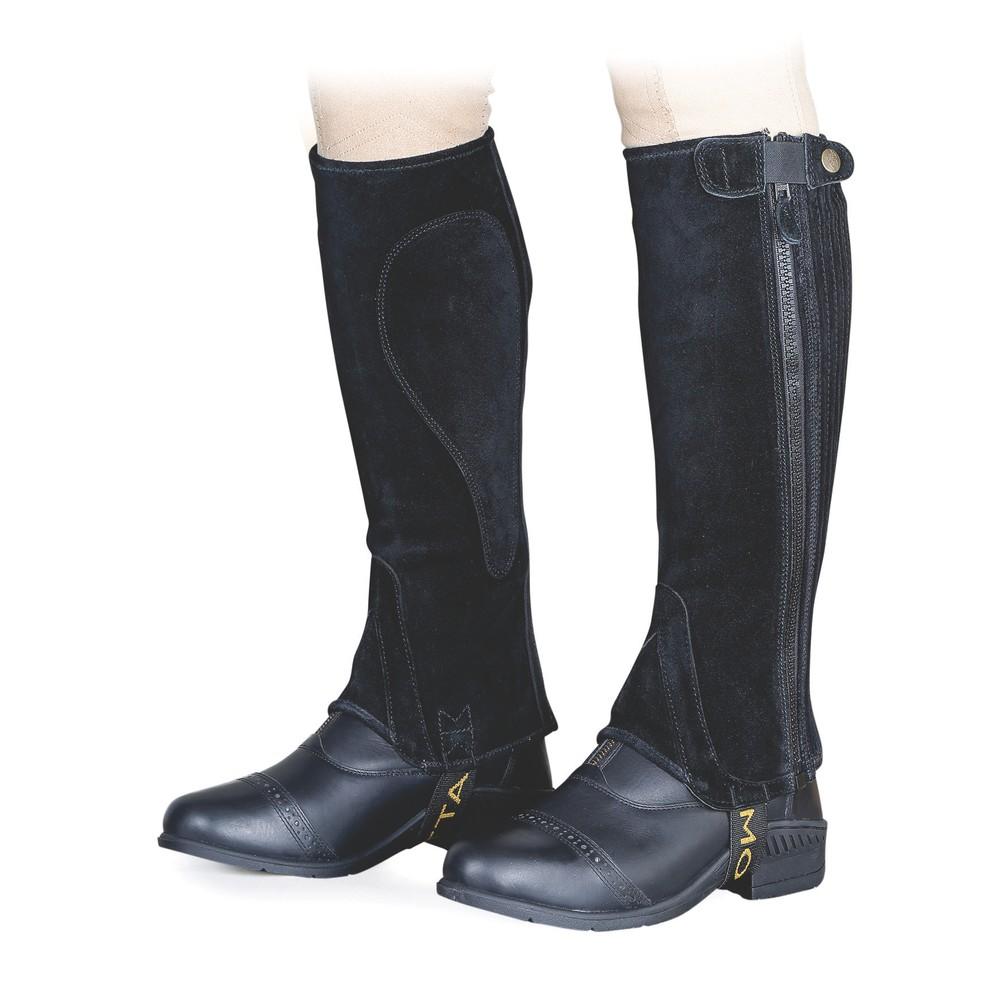 Moretta Suede Half Chaps - Adult in Black