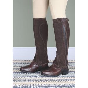 Moretta Suede Half Chaps - Adult - Short in Brown
