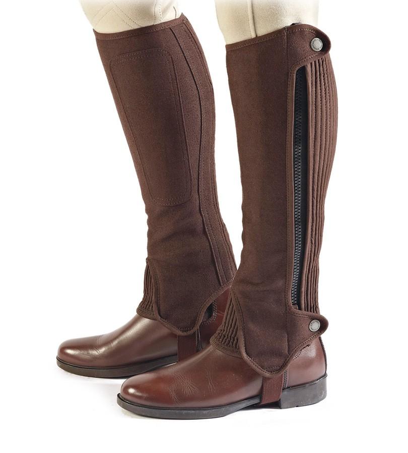 Bridleway Amara Half Chaps - Adults - Short in Brown