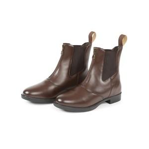 Bridleway Leather Zip Jodhpur Boots in Brown