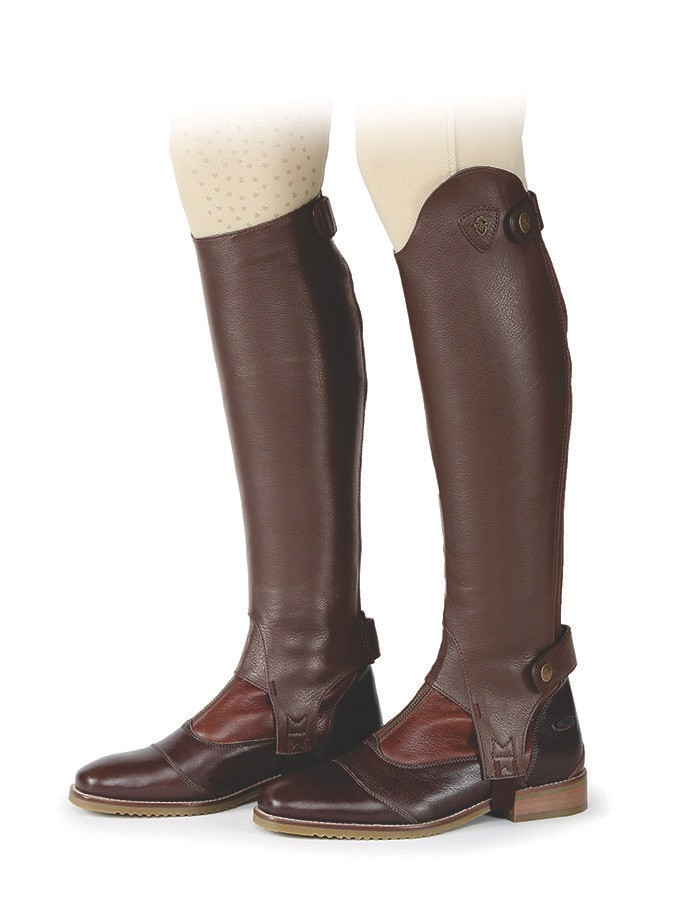 Moretta Leather Gaiters - Adults - Short in Chestnut