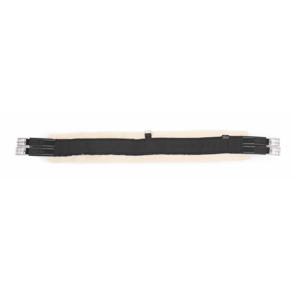 Shires Fleece Lined Girth - Elastic in Brown