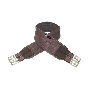 Hy Equestrian Waffle Girth - elasticated both ends in Brown