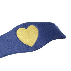 Hy Equestrian Hy Heart Fleece Head Collar in Navy/Gold