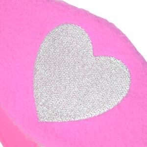 Hy Equestrian Hy Heart Fleece Head Collar in Pink/Silver
